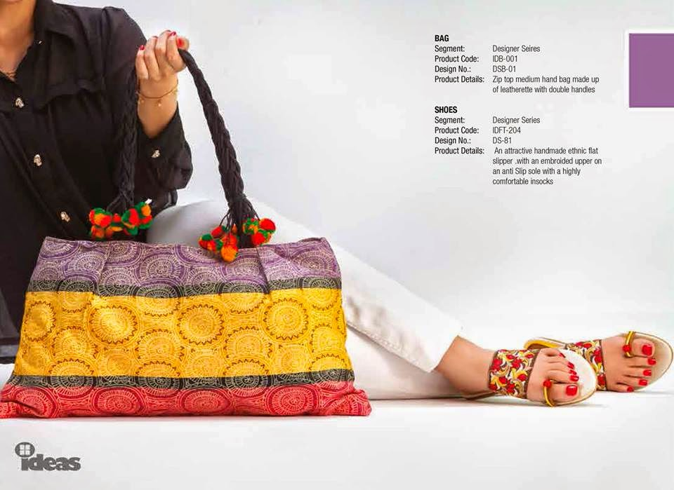 89ac16b111 Latest Handbags And Shoes Collection For Girls By Gul Ahmed From 2014
