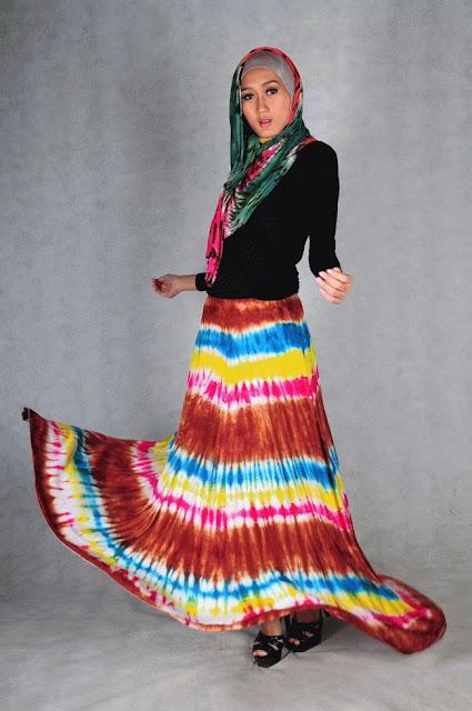 rok payung tie dye murah cantik