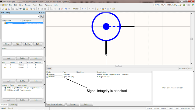 attaching signal integrity information to schematic symbol