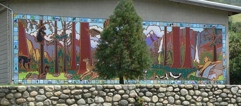 Wildlife Mural, Three Rivers Union School 2006