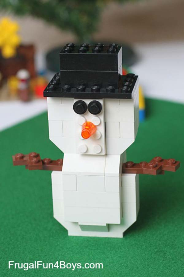 How to make a snowman lego christmas ornament