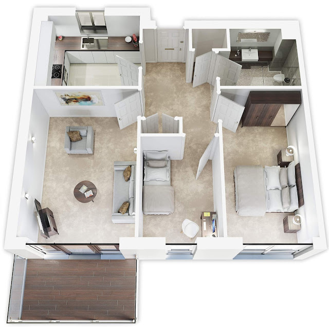 3d floor plan interior design