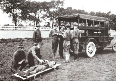 Ambulance Corps training, Camp Crane, PA 1918