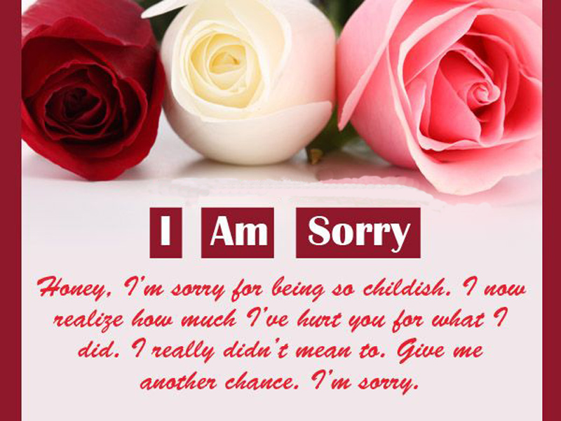 Love Text Messages - Quotes, Poems And Sms 17 I Am Sorry Message - apology card messages