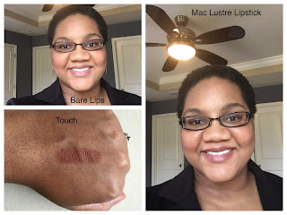 MAC Lustre Lipstick Touch on dark skin