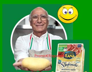 Logo Con Giovanni Rana vinci 820 carnet buoni sconto, 6 giornate con lui e buono da 10.000 euro