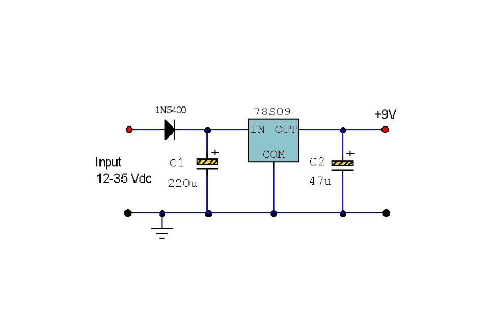 a simply 9v 2a power supply