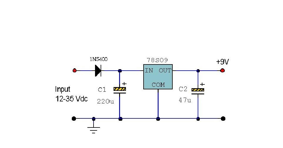 Electronics Circuit Application : 78S09 9 Volt 2 Amp Power