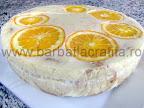 Tort de portocale preparare reteta - asezam un platou deasupra si rasturnam