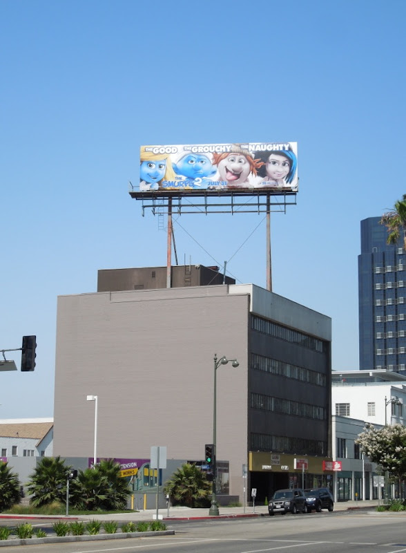 smurfs 2 billboard ad