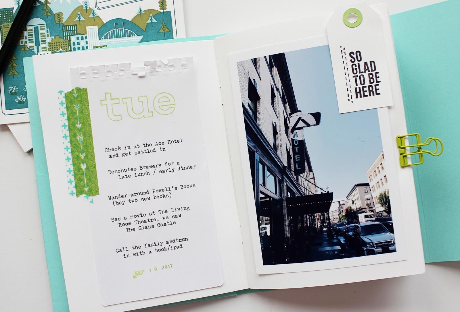 The Picinic Basket: Travel Mini Album │ Portland