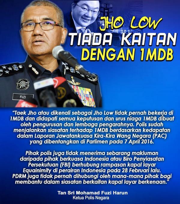 Tujuh Hujah Ini Bukti Jho Low Tiada Kaitan Dengan 1MDB