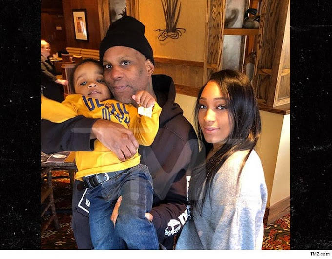 Rapper DMX is pictured with his family after his release from Prison