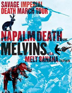 Napalm Death, Melvins, Melt Banana 2016 Tour