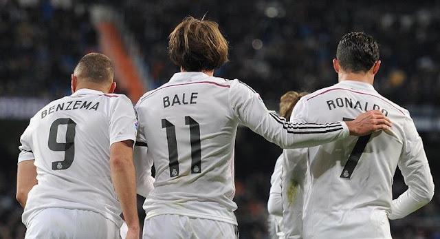 Trio BBC madrid - Bale, Benzema dan Cristiano