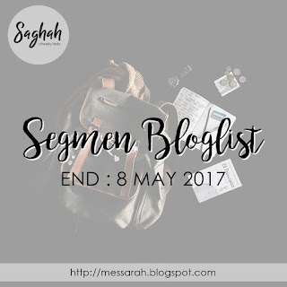 Segmen Bloglist by Saghah, segmen yang aku join, blog miss banu story,