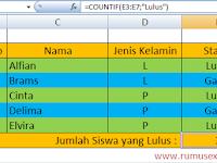 Cara Menggunakan Rumus COUNTIF dan COUNTIFS di Excel