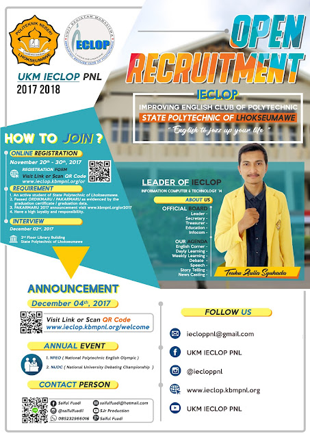 OPEN RECRUITMENT UKM IECLOP 2017