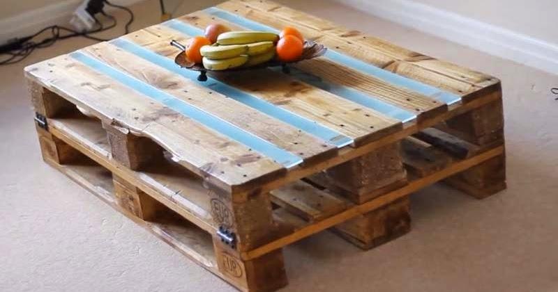 Instrucciones en video paso por paso para hacer una mesa con 2 palets - Mesas de palets ...