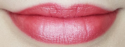 Avon True Luminous Velvet Lipstick swatch in Rosy Glow