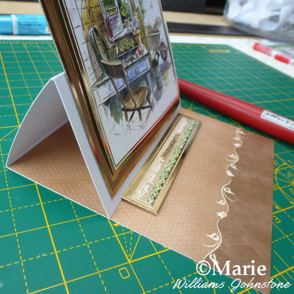 Side view of the basic easel card design see how to make your own DIY version with a craftymarie tutorial