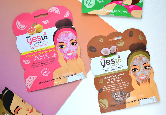 Yes To Coconut and Grapefruit Bubbling Paper Masks