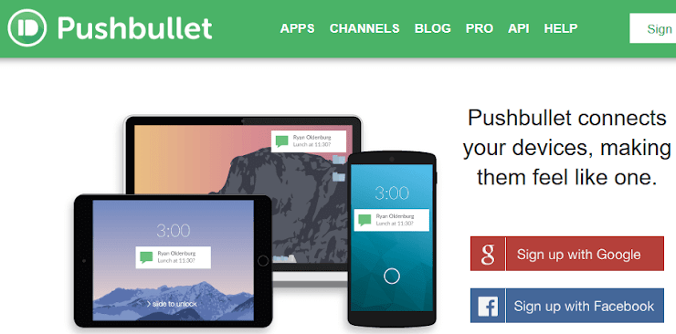 Pushbullet application for controlling Android phones