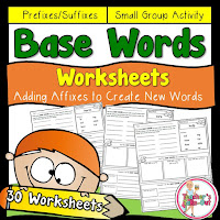 Base Words Worksheets