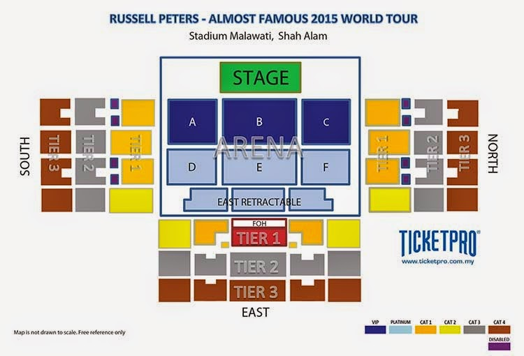 Russell Peters Malaysia 2015 Ticket