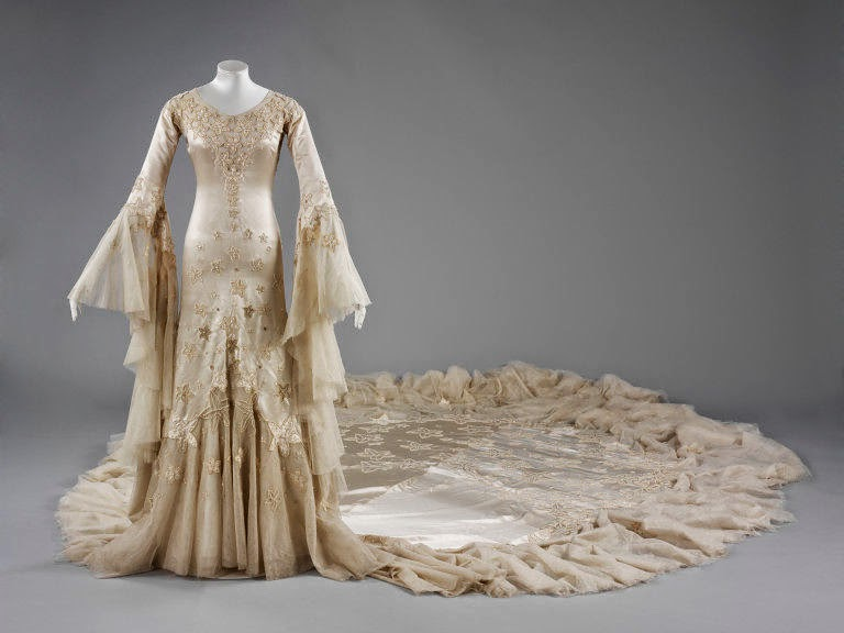 Wedding dress by Norman Hartnell- Front Look