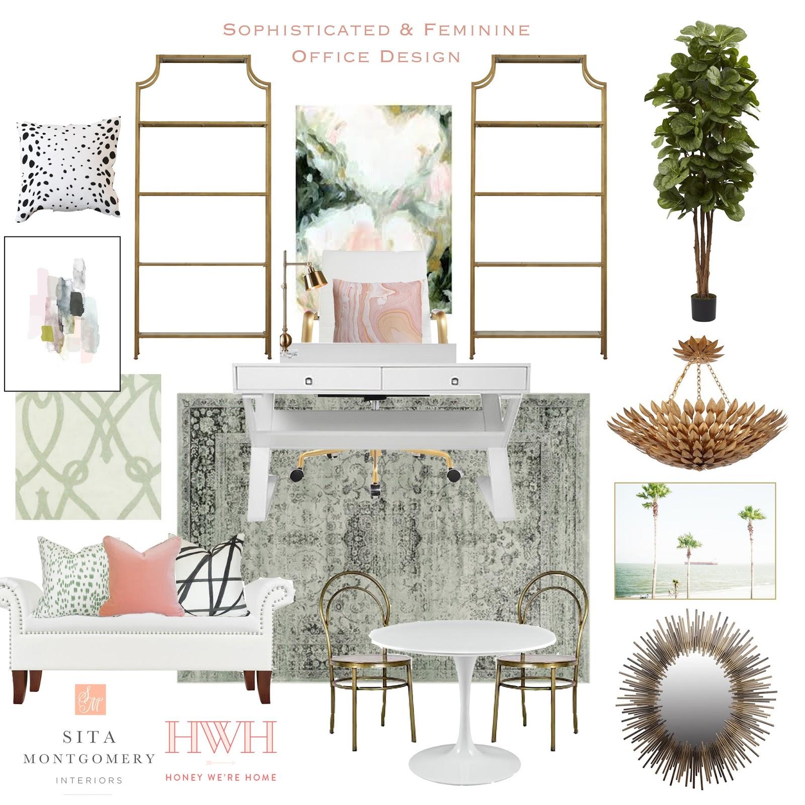 21 Feminine Home Office Designs Decorating Ideas: Sophisticated & Feminine