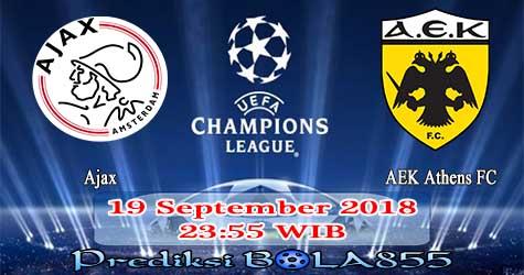 Prediksi Bola855 Ajax vs AEK Athens FC 19 September 2018