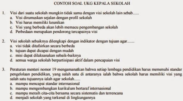 Download Contoh Soal Uji Kompetensi Kepala Sekolah Dan Contoh Soal Uji Kompetensi Pengawas Sekolah Tahun 2015 Dadang Jsn