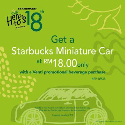 Starbucks Malaysia Drive Thru Stores Miniature Car