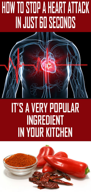 HOW TO STOP A HEART ATTACK IN JUST 60 SECONDS – IT'S A VERY POPULAR INGREDIENT IN YOUR KITCHEN