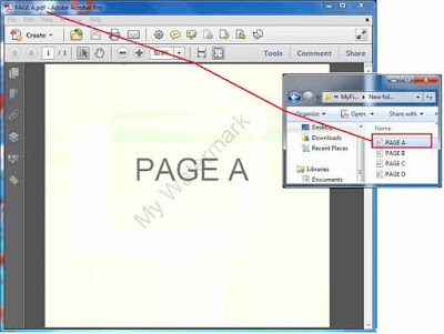 Page Output of PDF watermark