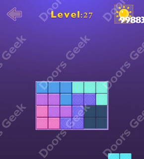 Cheats, Solutions, Walkthrough for Move Blocks Easy Level 27