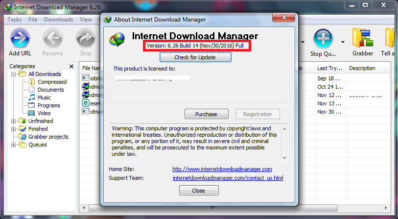 Internet Download Manager 6.30 Build 7 + Patch (FULL)
