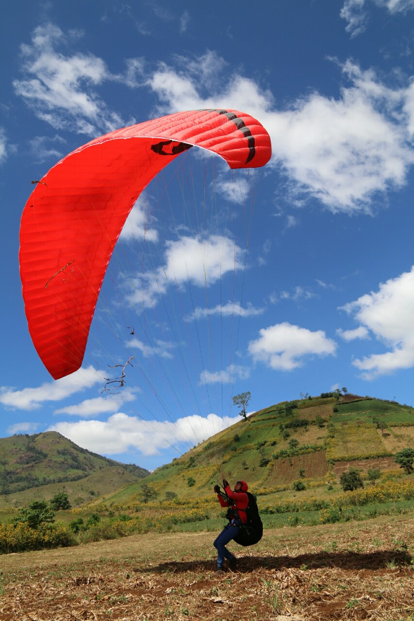Du khách phấn khích với những cánh dù lượn ngoạn mục từ đỉnh núi Chư Đăng Ya