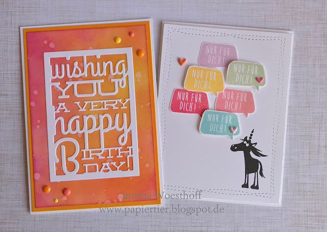 papiertier Indina | clean and simple | Geburtstagskarten in Scrapbooktreffforum | Stampin' Up!