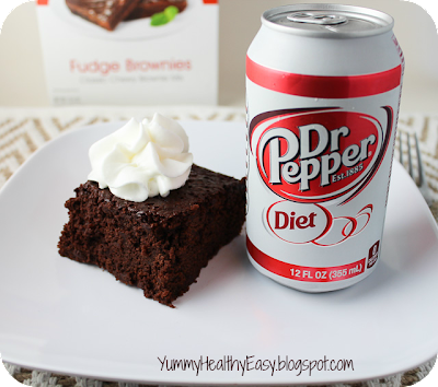 Healthier brownies made with diet soda and brownie mix