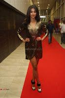 Pooja Hegde looks glamarous in deep neck sleevless short tight golden gown at Duvvada Jagannadham thank you meet function 007.JPG