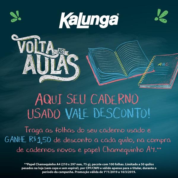 Campanha de reciclagem dá direito a descontos na Kalunga do Shopping  Estação ~ Blog do Patricio Nunes 4c54ac440c