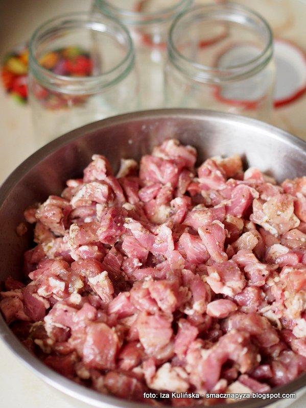 domowa konserwa mięsna, miesiwo w sloiku, sloiki z miesem, do chleba, przetwory miesne, smarowidło, wieprzowina do kanapek