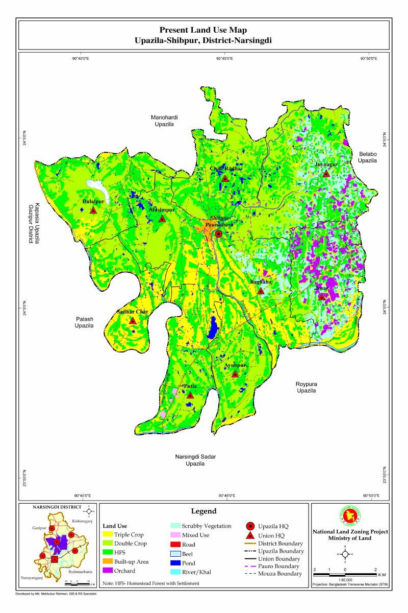 Shibpur Upazila Mouza Map Narsingdi District Bangladesh