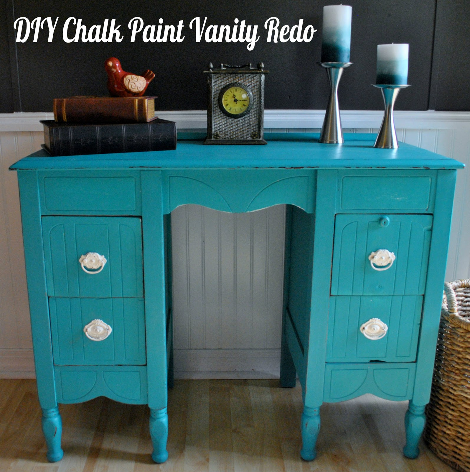 Life with 4 boys furniture painting diy chalk paint for Redo furniture