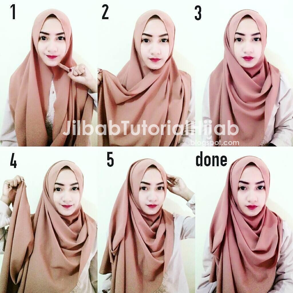 Tutorial Hijab Pashmina Diamond Simple Tutorial Hijab Paling