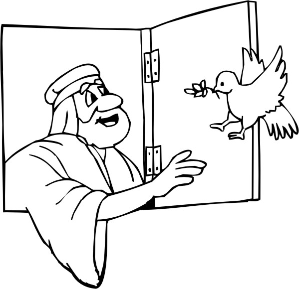 Awesome Noah Dove Coloring Page Illustration - Coloring Page Ideas ...