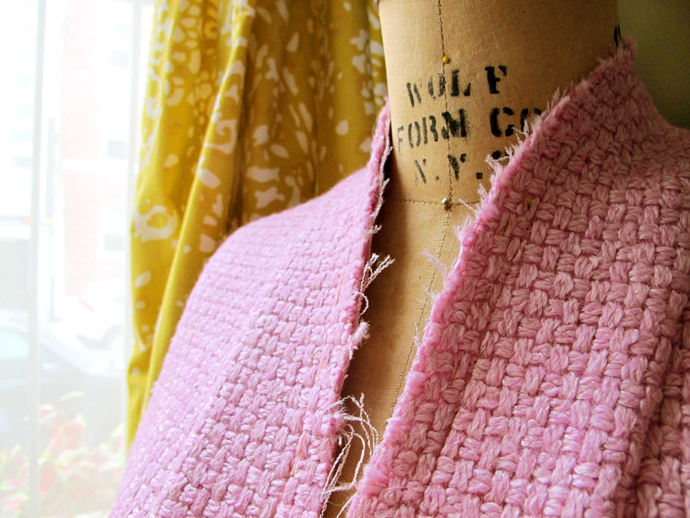 oonaballoona | a sewing blog | By Hand London Victoria boucle coat in process