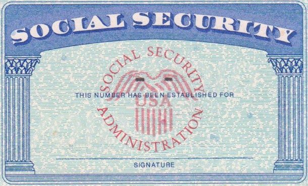 Blank fillable social security card just b cause for California id template download